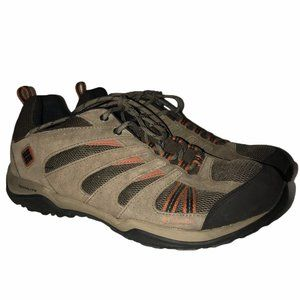 Columbia Techlite Brown Leather Hiking Shoes 10